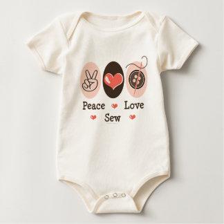 Peace Love Sew Sewing Organic Infant Creeper