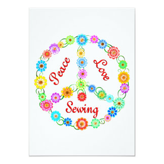 Peace Love Sewing Card