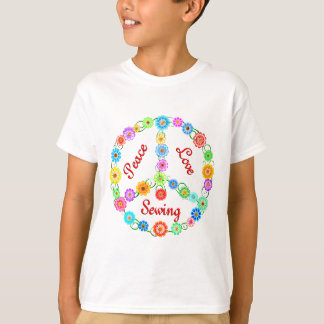 Peace Love Sewing T-Shirt