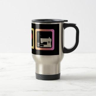 Peace love sewing travel mug