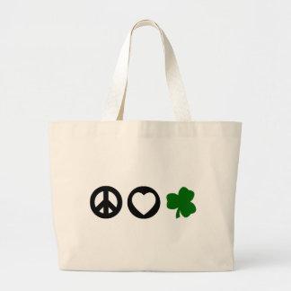 Peace Love Shamrock Bag