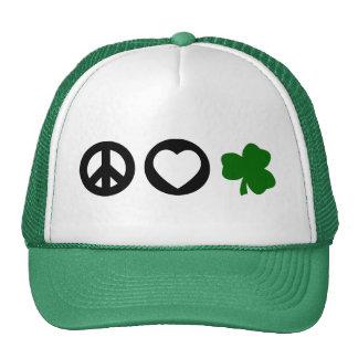 Peace Love Shamrock Hat