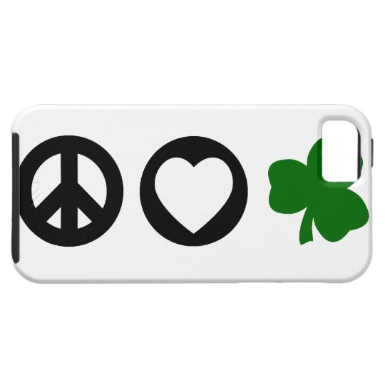 Peace Love Shamrock iPhone SE/5/5s Case