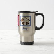 Peace Love Sheep Travel Mug
