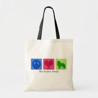 Peace Love Sheltie Bags