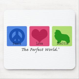 Peace Love Sheltie Mouse Mat