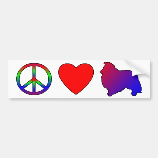 Peace Love Shelties Bumper Sticker