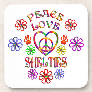 Peace Love Shelties Coaster