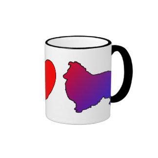 Peace Love Shelties Mug
