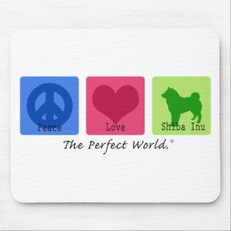 Peace Love Shiba Inu Mouse Mats