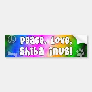 Peace Love Shiba Inus Bumper Sticker