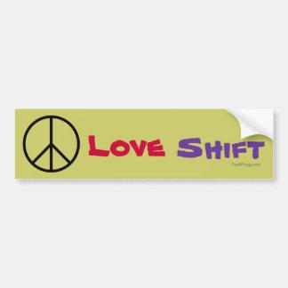 Peace Love Shift Bumper Sticker Car Bumper Sticker