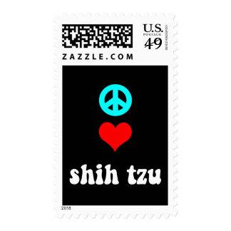Peace love Shih Tzu Stamp