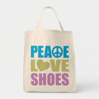 Peace Love Shoes Canvas Bag