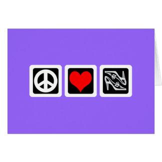 Peace love shoes card