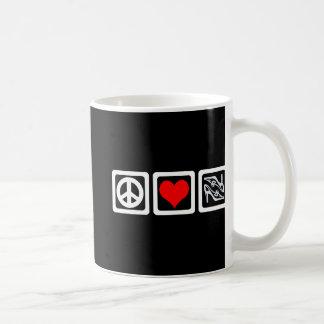 Peace love shoes coffee mug
