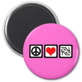 Peace love shoes magnet