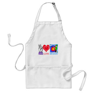PEACE LOVE SHOOT (Gun Lovers) Adult Apron
