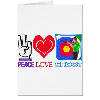 PEACE LOVE SHOOT (Gun Lovers) Card