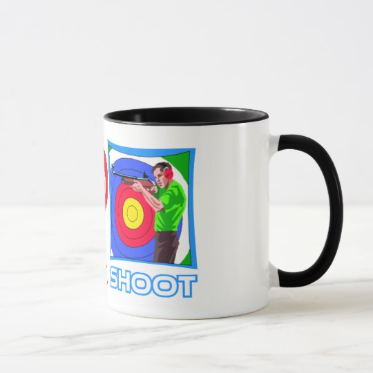 PEACE LOVE SHOOT (Gun Lovers) Mug