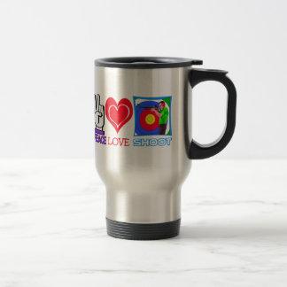 PEACE LOVE SHOOT (Gun Lovers) Mugs
