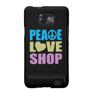 Peace Love Shop Galaxy S2 Cover