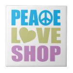 Peace Love Shop Ceramic Tiles