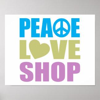 Peace Love Shop Poster