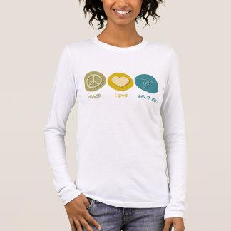 Peace Love Shot Put Long Sleeve T-Shirt