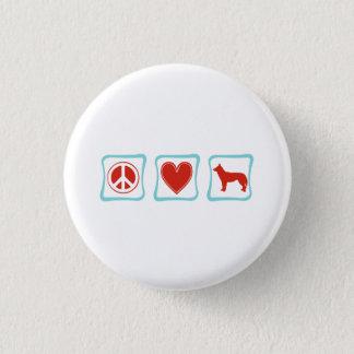 Peace Love Siberian Huskies Squares Button