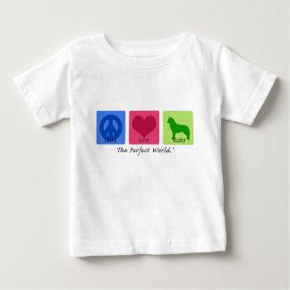Peace Love Siberian Husky Baby T-Shirt