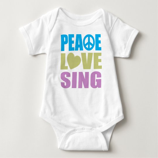 Peace Love Sing Baby Bodysuit
