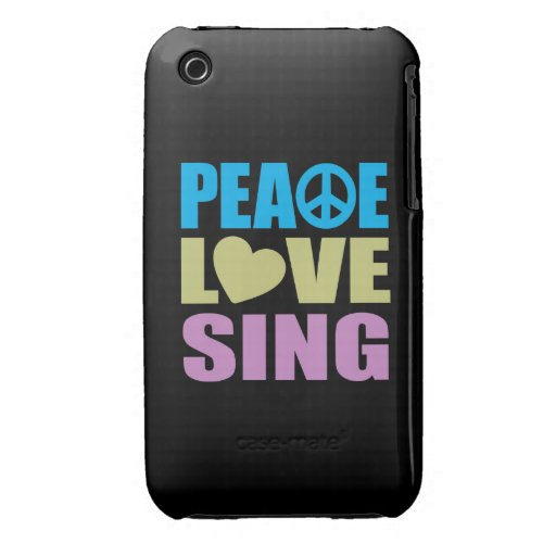 Peace Love Sing iPhone 3 Case-Mate Cases