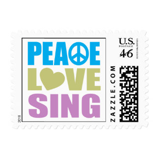 Peace Love Sing Stamp