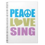 Peace Love Sing Spiral Note Books