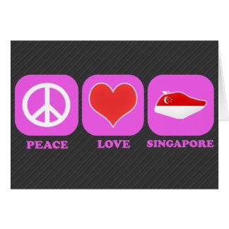 Peace Love Singapore Greeting Card