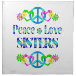 Peace Love Sisters Printed Napkins