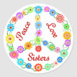 Peace Love Sisters Sticker