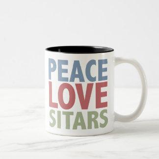 Peace Love Sitars Two-Tone Coffee Mug
