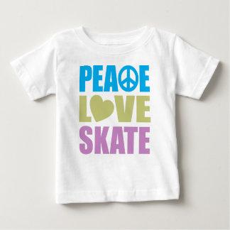 Peace Love Skate Baby T-Shirt