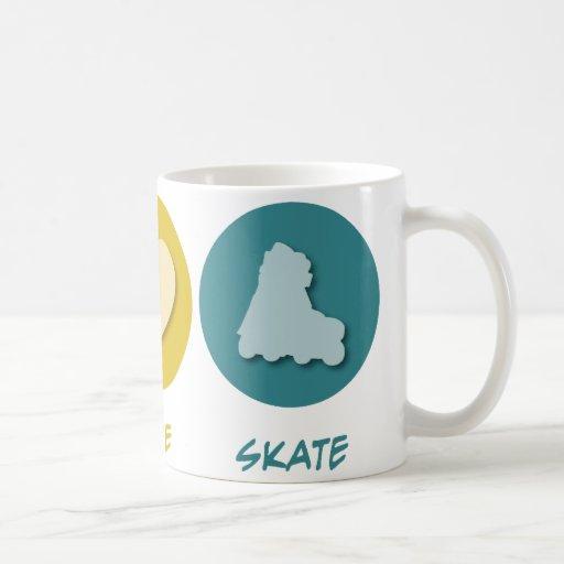 Peace Love Skate Classic White Coffee Mug