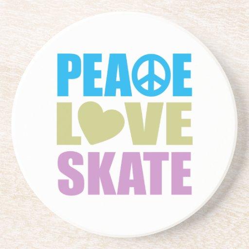 Peace Love Skate Coasters