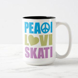 Peace Love Skate Coffee Mug