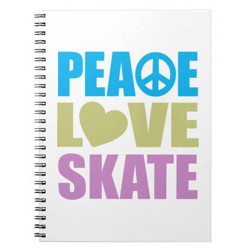 Peace Love Skate Notebook