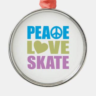 Peace Love Skate Ornaments