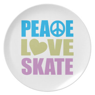 Peace Love Skate Plate