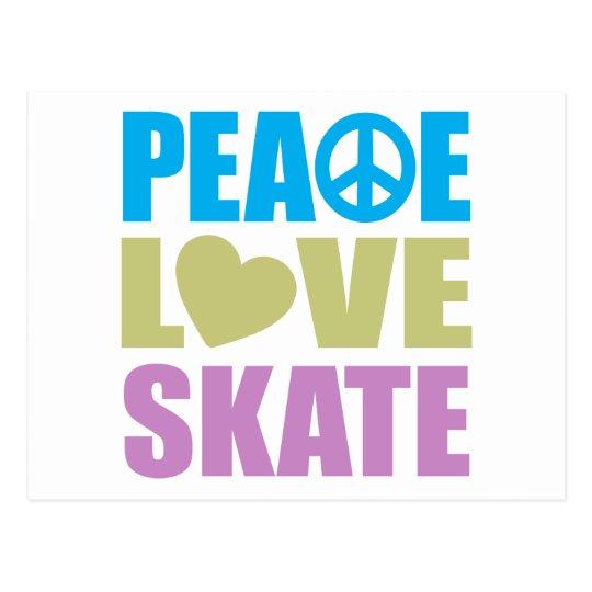 Peace Love Skate Postcard