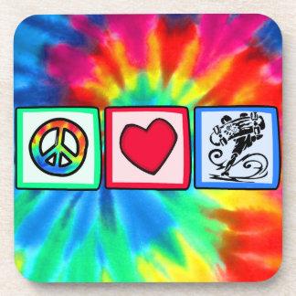 Peace, Love, Skateboard Beverage Coaster