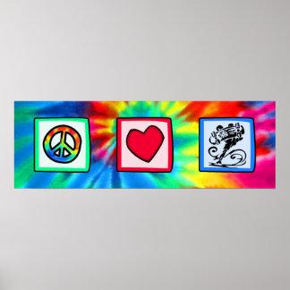 Peace, Love, Skateboard Poster