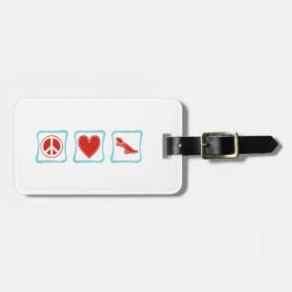 Peace Love Skateboard Squares Tags For Luggage
